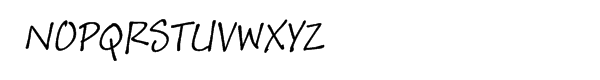 Andy™ Italic Font UPPERCASE