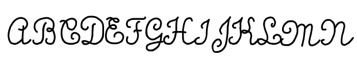 Calligraphy Hand Made Font UPPERCASE