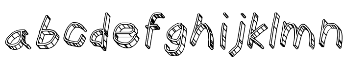 CiSf OpenHand Glass Oblique Font LOWERCASE