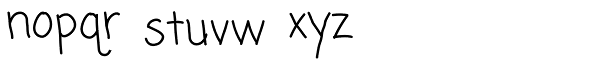 Coming Soon Pro Font LOWERCASE