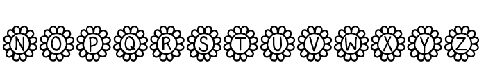 Flower Power Font UPPERCASE