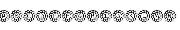 Flower Power Font LOWERCASE
