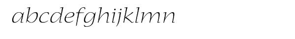 Nueva Light Extended Italic Font LOWERCASE