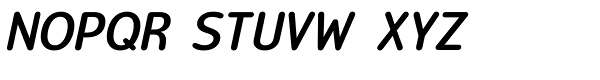 Official Heavy Italic Font UPPERCASE