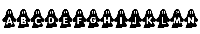 rmghost4  graphic Font LOWERCASE