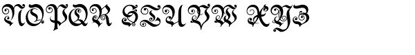 Theodore Bold Font UPPERCASE