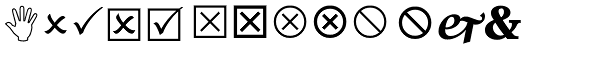 Wingdings 2 Font UPPERCASE