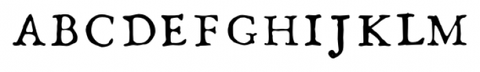 1786 GLC Fournier Caps Font LOWERCASE