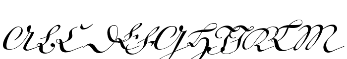 18th Century Kurrent Text Font UPPERCASE