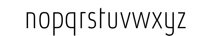 Absolut Pro Condensed Thin reduced Font LOWERCASE