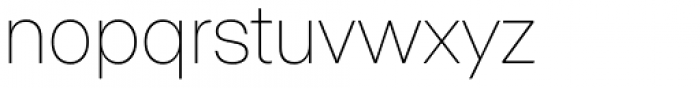 ABC Normal Thin Font LOWERCASE
