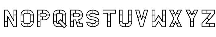 AC Thermes Outline Font LOWERCASE