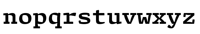 Array Proportional Bold Font LOWERCASE