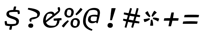 Array Proportional Regular Italic Font OTHER CHARS