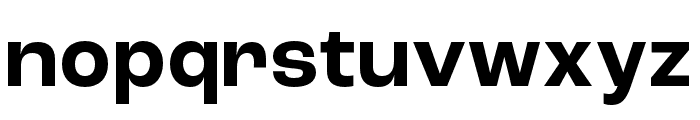 Roc Grotesk ExtraWide Bold Font LOWERCASE