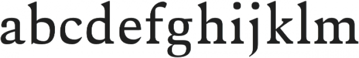 Aderes otf (400) Font LOWERCASE
