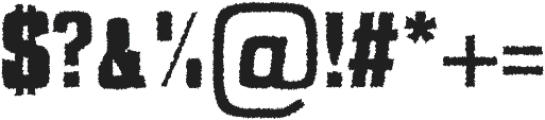 Adyson Distorted otf (400) Font OTHER CHARS
