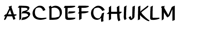 Adams Regular Font UPPERCASE
