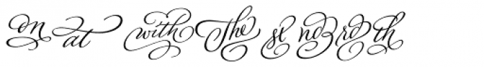 Adorn Smooth Catchwords Font LOWERCASE