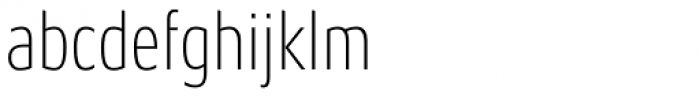 Aeonis Pro Condensed Thin Font LOWERCASE