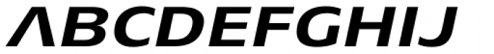 Aeonis Pro Extended Bold Italic Font UPPERCASE
