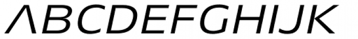 Aeonis Pro Extended Italic Font UPPERCASE