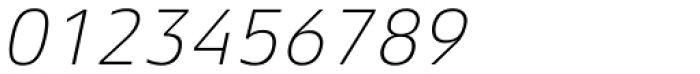 Aeonis Pro Thin Italic Font OTHER CHARS