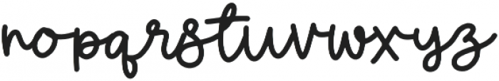 Aftergrows otf (400) Font LOWERCASE