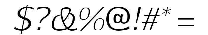 Aftasans-Italic Font OTHER CHARS