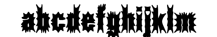 Aftermath BRK Font LOWERCASE