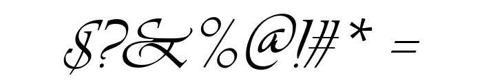 Agnez Lovely Italic Font OTHER CHARS
