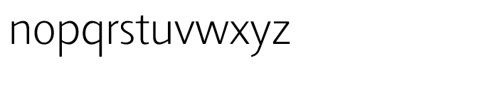 Agilita Extra Light Font LOWERCASE