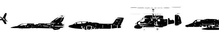 Air Force Font UPPERCASE