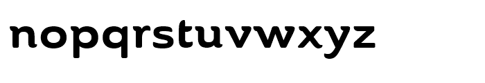 Ainslie Extended Bold Font LOWERCASE