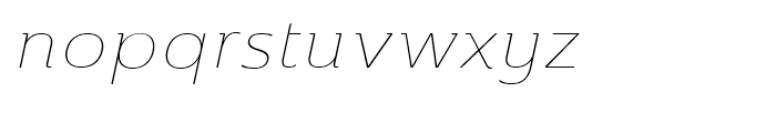 Ainslie Extended Thin Italic Font LOWERCASE