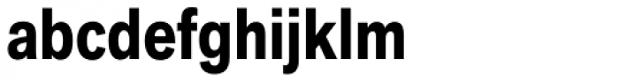 Akzidenz-Grotesk Next Cond Bold Font LOWERCASE