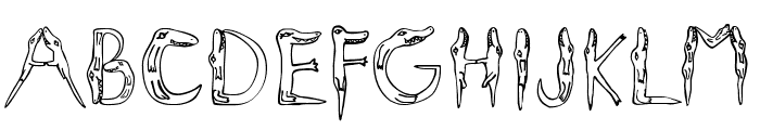 Alligators Font UPPERCASE
