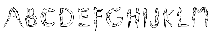 Alligators Font LOWERCASE