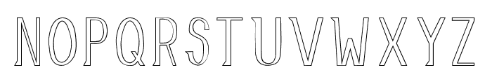AllusionOutlined Font UPPERCASE