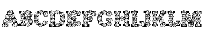 AlphaFlowers Font LOWERCASE