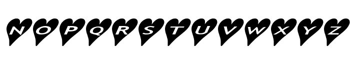 AlphaShapes hearts 2a Font LOWERCASE