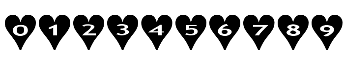 AlphaShapes hearts Font OTHER CHARS