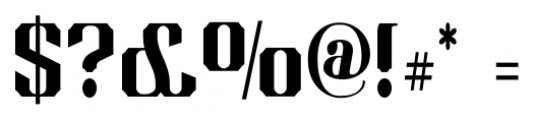 Albions Americana Companion Font OTHER CHARS