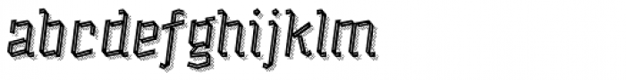 Alquitran Pro Regular Line More Shadow Lines Font LOWERCASE