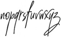 Amanda Santiago Alternate Slant Regular otf (400) Font LOWERCASE