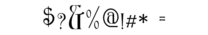 Ambrosia SmallCaps Font OTHER CHARS