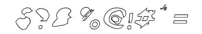 Ampere Outline Italic Font OTHER CHARS