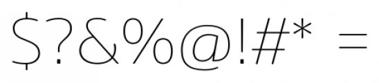 Amsi Pro Thin Font OTHER CHARS