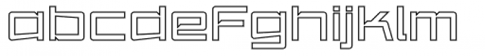 Amp Outline Font LOWERCASE