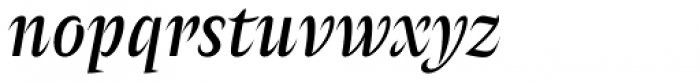 Amster Gris Italica Font LOWERCASE